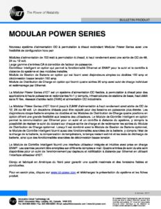 ICT INTRODUIT LA MODULAR POWER SERIES - Innovative Circuit